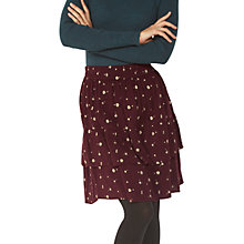 Buy Fat Face Copper & Black Caroline Petal Floral Skirt, Deep Berry Online at johnlewis.com