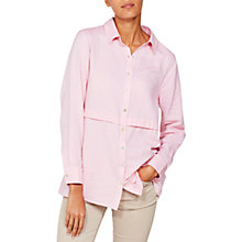 Buy Mint Velvet Tuck Front Shirt, Raspberry Online at johnlewis.com