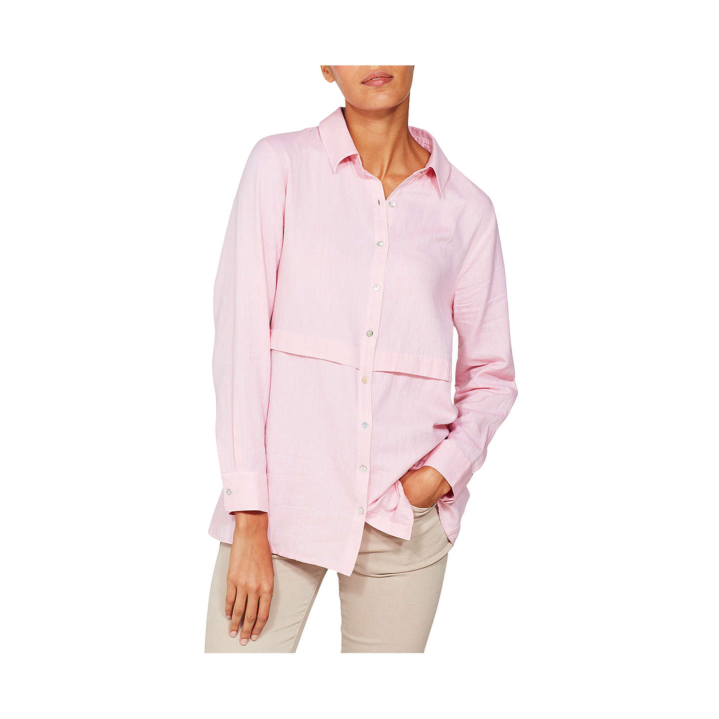 BuyMint Velvet Tuck Front Shirt, Raspberry, 6 Online at johnlewis.com