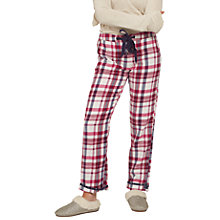 Buy Fat Face Mini Star Jacquard Check Pyjama Bottoms, Rose Red Online at johnlewis.com