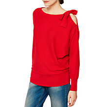 Buy Mint Velvet Tie Shoulder Batwing Jumper, Red Online at johnlewis.com