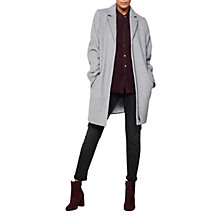 Buy Mint Velvet Relaxed Wool Blend Coat, Silver Grey Online at johnlewis.com
