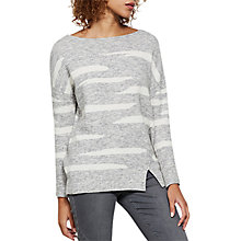 Buy Mint Velvet Irregular Stripe Jumper, Silver Grey Online at johnlewis.com