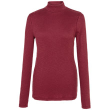 Buy Fat Face Turtle Neck Rib Top, Merlot Online at johnlewis.com