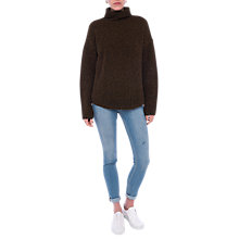 Buy French Connection Curved Hem Turtle Neck Jumper Online at johnlewis.com