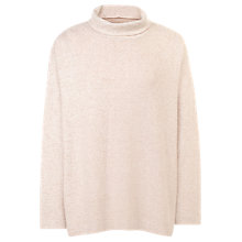 Buy Fat Face Soft Turtle Neck Jumper, Soft Rose Online at johnlewis.com