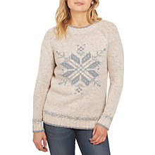 Buy Fat Face Snowflake Christmas Jumper Online at johnlewis.com