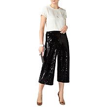 Buy Pure Collection Sequin Trousers, Black Online at johnlewis.com
