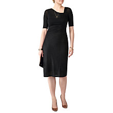 Buy Pure Collection Sparkle Jersey Dress, Black Online at johnlewis.com