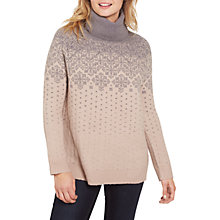 Buy Fat Face Sienna Snowflake Jumper, Smoke Grey Online at johnlewis.com