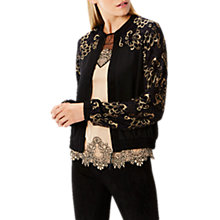 Buy Coast Jada Lace Crepe Bomber, Black Online at johnlewis.com