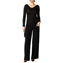 Buy Pure Collection Sparkle Slash Neck Top, Black Online at johnlewis.com