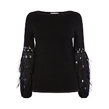 Buy Coast Squires Feather Knit Top Online at johnlewis.com