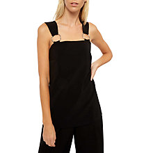 Buy Jaeger Laboratory Ring Detail Top, Black Online at johnlewis.com
