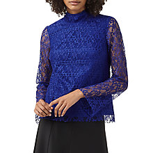 Buy Finery Dalston Lace Top, Cobalt Blue Online at johnlewis.com