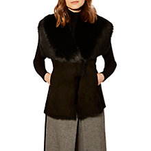 Buy Karen Millen Shearling Gilet, Black Online at johnlewis.com