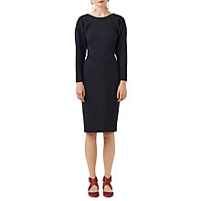 Buy Finery Norland Structured Dress, Navy Online at johnlewis.com
