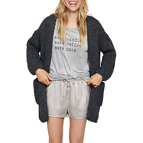 Buy Hygge by Mint Velvet Chunky Knit Cardigan, Dark Grey | John Lewis