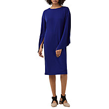 Buy Finery Courtfield Split Sleeve Jersey Dress, Bright Blue Online at johnlewis.com
