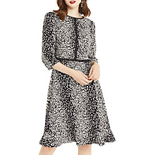 Buy Oasis Long Length Animal Skater Dress, Black/White Online at johnlewis.com
