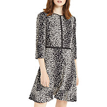 Buy Oasis Animal Skater Dress, Black/White Online at johnlewis.com