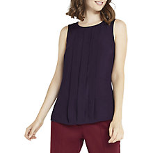 Buy Oasis Pintuck Shell Top, Dark Purple Online at johnlewis.com
