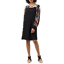 Buy Finery Novello Chiffon Dress, Black Online at johnlewis.com