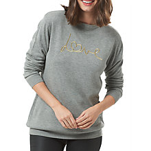 Buy Sugarhill Boutique Rita Love Jumper, Grey Marl/Gold Online at johnlewis.com