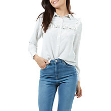 Buy Sugarhill Boutique Grace Star Frill Shirt, Cream/Black Online at johnlewis.com