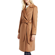 Buy Jaeger Wool Wrap Coat, Dark Camel Online at johnlewis.com