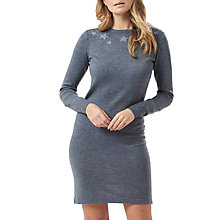 Buy Sugarhill Boutique Evie Star Collar Dress, Charcoal Grey/Black Online at johnlewis.com