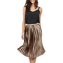 Buy Sugarhill Boutique Lynette Pleated Midi Skirt, Bronze Online at johnlewis.com