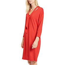Buy Jaeger Tie Neck Jersey Dress, Bright Red Online at johnlewis.com