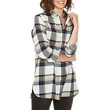 Buy Fat Face Ottilie Check Longline Shirt Online at johnlewis.com