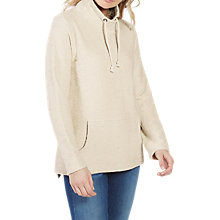 Buy Fat Face Ryde Funnel Neck Sweat Top, Ivory Online at johnlewis.com