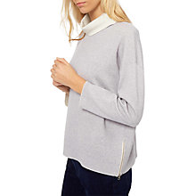 Buy Jaeger Double Face Side Zip Jumper, Ivory/Grey Online at johnlewis.com
