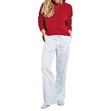 Buy hush Lightning Bolt Pyjama Trousers, Lightest Blue/Red Online at johnlewis.com