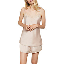 Buy Hygge by Mint Velvet Satin Short & Cami Set, Light Pink Online at johnlewis.com