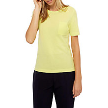 Buy Jaeger Cashmere Pocket T-Shirt, Lime Online at johnlewis.com