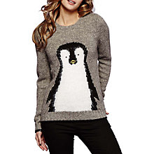 Buy Yumi Peguin Jumper, Light Grey Online at johnlewis.com
