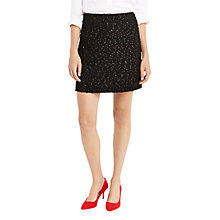 Buy Oasis Spot Foil Popcorn Skirt, Multi Black Online at johnlewis.com