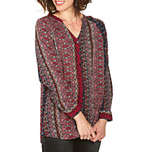 Buy Fat Face Maggie Folklore Longline Top, Multi Online at johnlewis.com