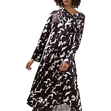 Buy Finery Faith Abstract Print Velvet Dress, Multi Online at johnlewis.com