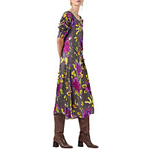 Buy Finery Brooklyn Artist Flower Print Dress, Grey/Multi Online at johnlewis.com