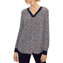 Buy Jaeger Silk Ditsy Speckled V-Neck Blouse, Multi Online at johnlewis.com
