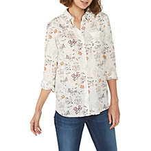 Buy Fat Face Olivia Wild Flower Shirt, Ivory Online at johnlewis.com