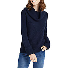 Buy Oasis Ribbed Cowl Neck Jumper Online at johnlewis.com