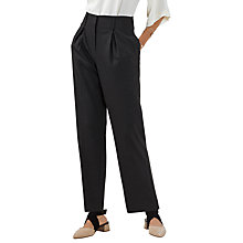 Buy Finery Oliver Dogtooth High Waisted Peg Trousers, Grey/Multi Online at johnlewis.com