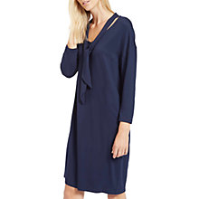 Buy Jaeger Tie Neck Jersey Dress, Navy Online at johnlewis.com