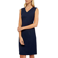 Buy Jaeger Window Pane Wool Blend Tailored Dress, Navy Online at johnlewis.com